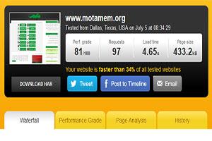 ارزیابی سرعت لود شدن سایتها - متمم - محل توسعه مهارتهای من
