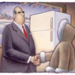وظایف یک فروشنده: دیدگاه یخچال و اسکیمو