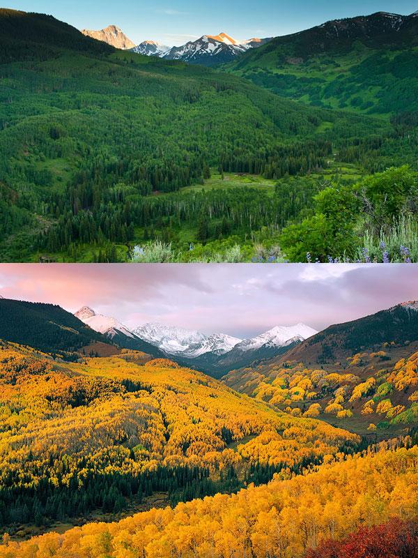 دره Capitol Creek -آسپن-ایالت متحده آمریکا