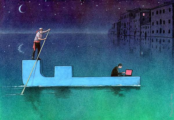 کاریکاتور در مورد فیس بوک