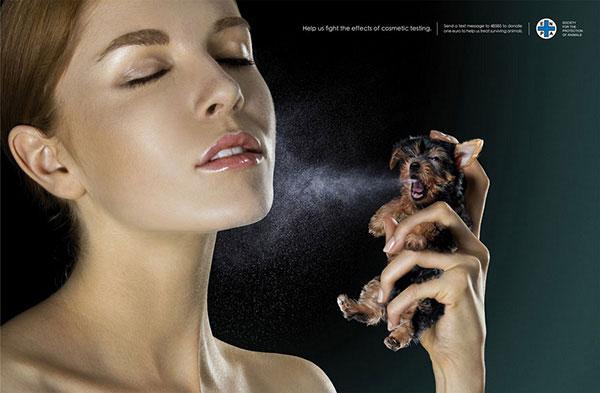 به ما کمک کنید تا آزمایش لوازم آرایش بر روی حیوانات را متوقف کنیم.