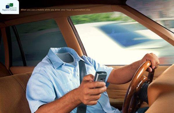 موبایل در هنگام رانندگی