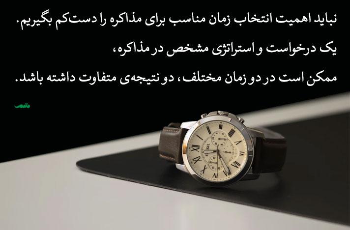 انتخاب زمان مناسب برای مذاکره - در مذاکره حقوق هم مثل هر مذاکره دیگری، انتخاب زمان مهم است