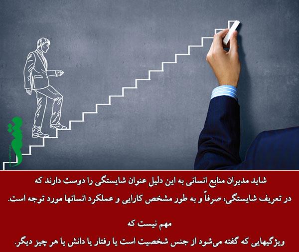 تعریف شایستگی در مدیریت منابع انسانی