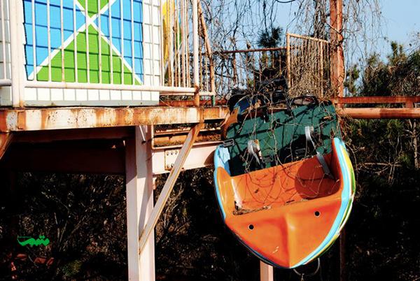 پارک تفریحی رها شده Okpo در حومه شهر Okpo در کره جنوبی