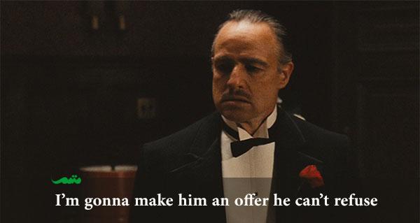 یادگیری زبان انگلیسی - An offer he cant refuse - godfather