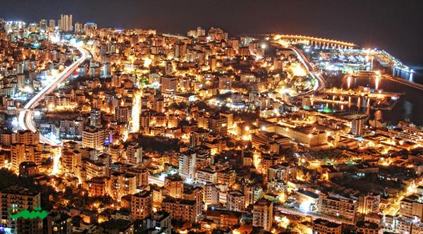 بیروت در شب