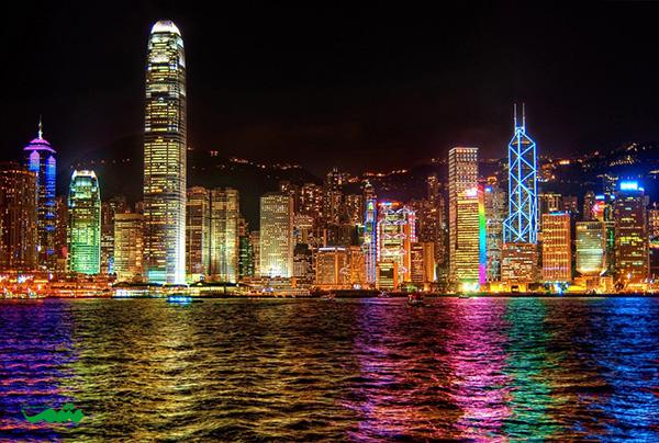 هنگ کنگ در شب