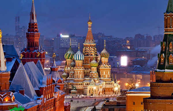 مسکو در شب