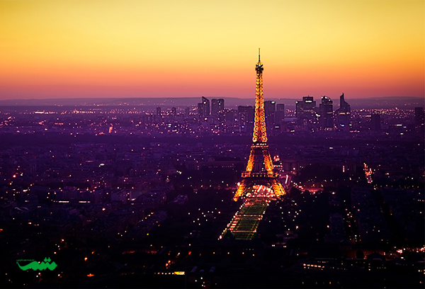پاریس در شب - شهرهای دنیا در شب