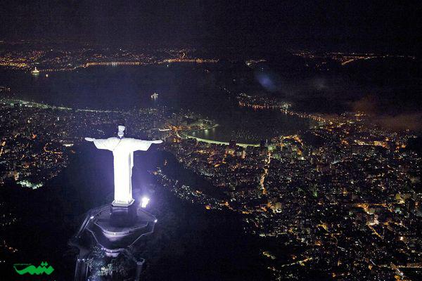 ریودوژانیرو در شب - تصویر شهر در شب