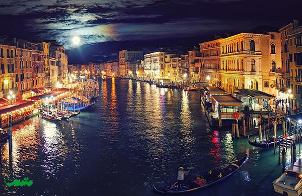 ونیز درشب - زیبایی شهر در شب