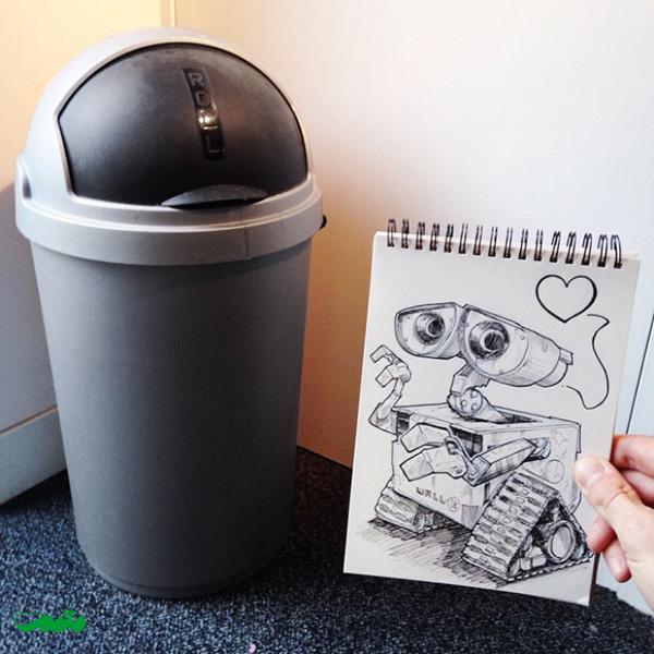 خلاقیت در ترکیب عکس و نقاشی