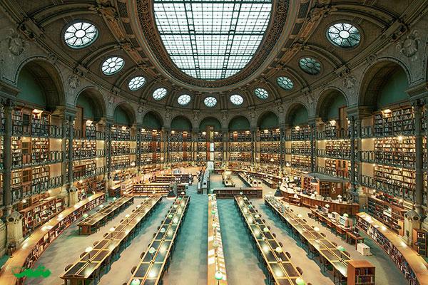 کتابخانه ملی فرانسه، پاریس، فرانسه
