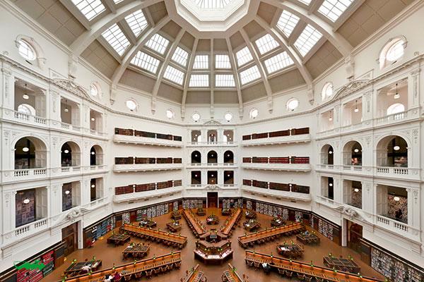 کتابخانه ایالتی ویکتوریا، ملبورن، استرالیا