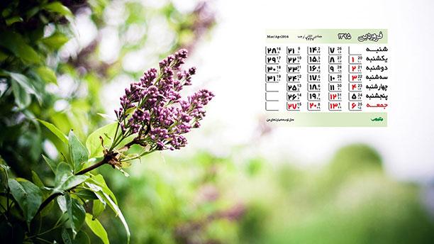 تقویم سال نود و پنج-والپیپر