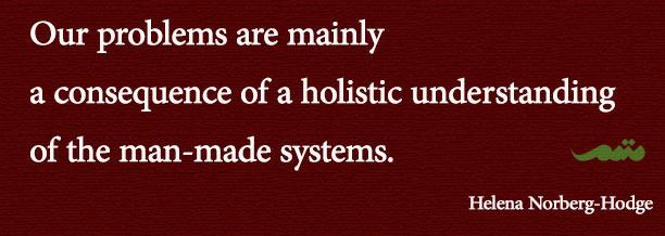 نداشتن نگاه جامع نگر به سیستم های انسانی منشاء اصلی مشکلات ماست