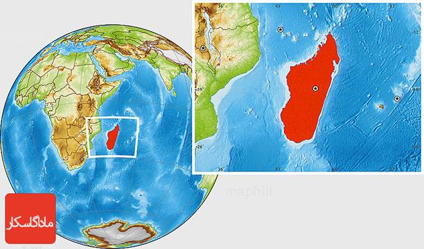 نقشه جزیره ماداگاسکار