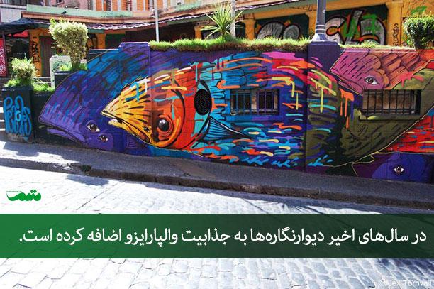 هنرمندان گرافیتی در شیلی - راهنمای سفر به شیلی - جاهای دیدنی شیلی