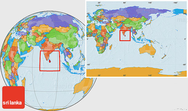 نقشه کشور سریلانکا - راهنمای سفر به سریلانکا