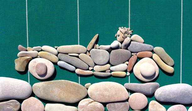 خلاقیت با سنگ و سنگریزه