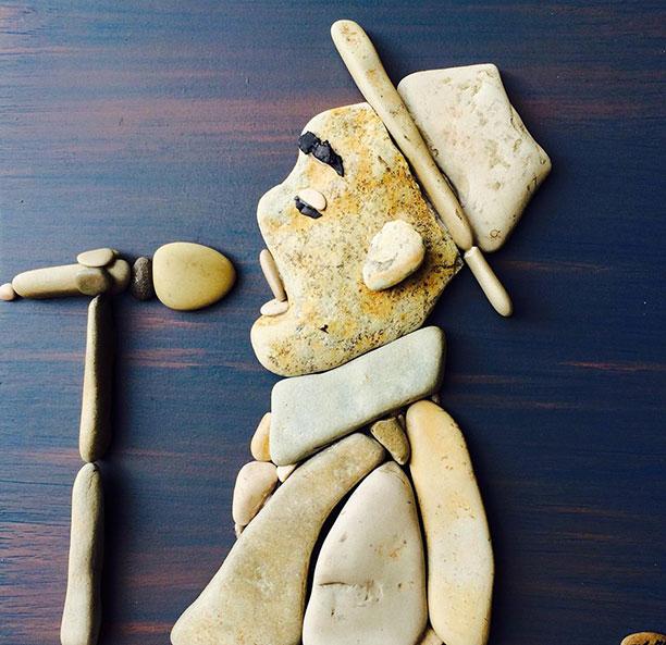 عکس های کاردستی با سنگ