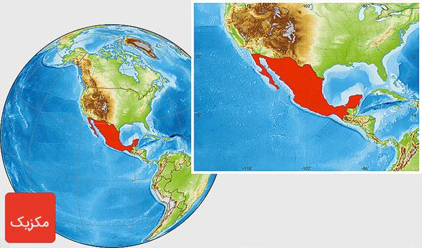 نقشه مکزیک - جمعیت مکزیک - مکزیکوسیتی مناطق دیدنی