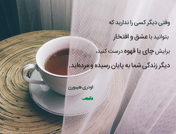 اودری هپبورن - وقتی دیگر کسی را ندارید که بتوانید با عشق و افتخار برایش چای یا قهوه درست کنید، دیگر زندگی شما به پایان رسیده و مرده اید