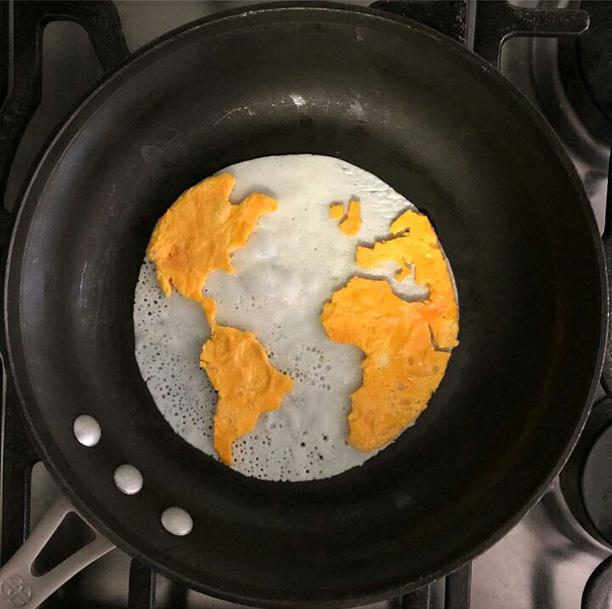 خلاقیت با تخم مرغ صبحانه
