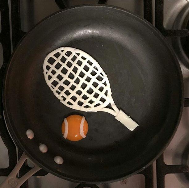 تزیین تخمرغ نیمرو