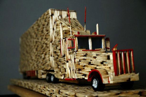 کاردستی چوب کبریتی - ساخت ماکت با چوب کبریت