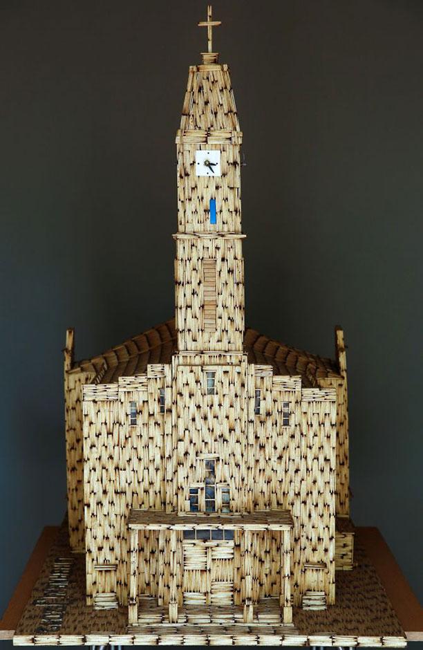 کاردستی خانه با چوب کبریت - ساخت خانه با چوب کبریت