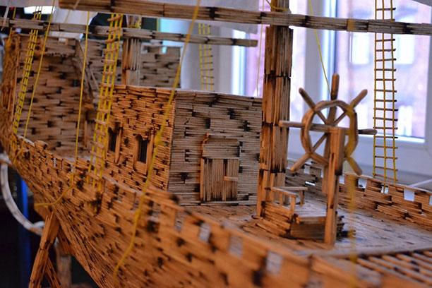 ساخت کشتی با چوب کبریت - کاردستی خلاقانه