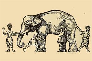 داستان فیل و کوران - حکایت فیل و تاریکی - مثنوی مولوی