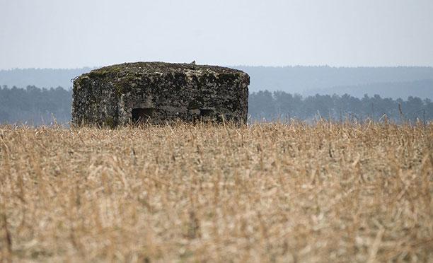 تصاویر جنگ جهانی اول - پناهگاهی مربوط به جنگ جهانی در تپه های کشور فرانسه