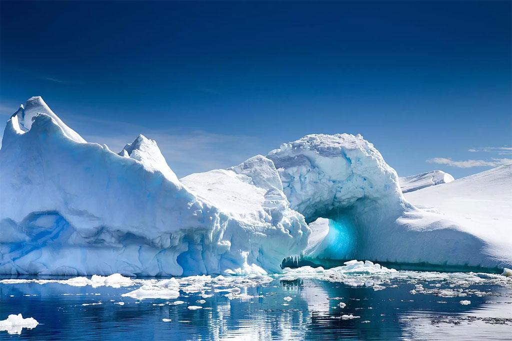 عکس قطب جنوب - قسمتهای یخ زده