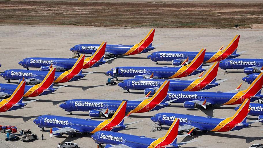 هواپیماهای بویینگ ۷۳۷ مکس زمین گیر شده توسط ساوث وست آمریکا