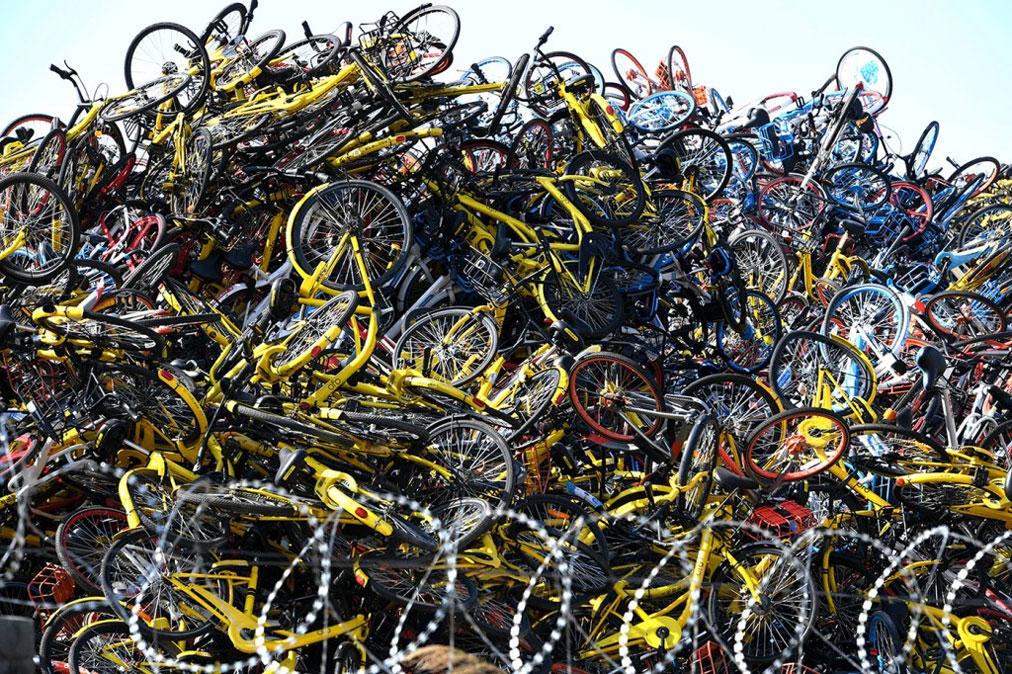 گورستان دوچرخه های اشتراکی