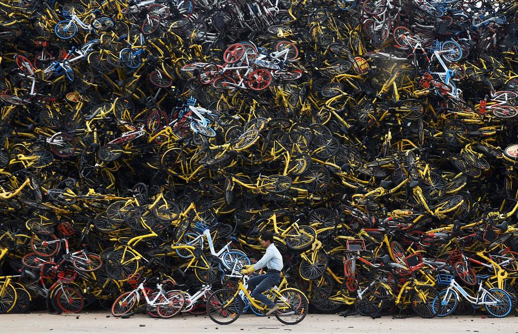 دوچرخه های اشتراکی | گورستان دوچرخه ها