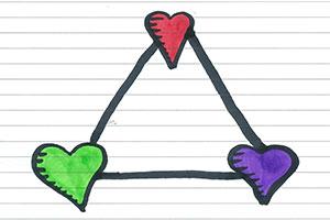 مثلث استرنبرگ چیست؟ | آشنایی با مثلث عشق و پیام آن