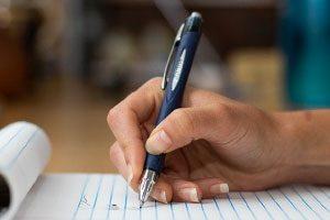 تمرین نوشتن